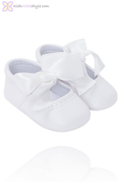 Baby Girl  Mary Jane Shoes in White