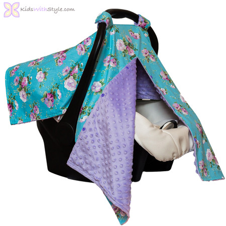 Floral Print 4 in 1 Baby Car Seat Cover | Shop Baby Car Seat Canopies