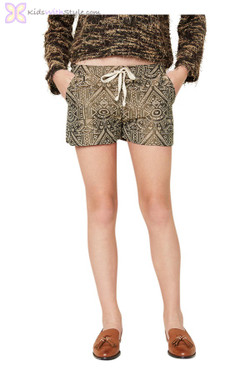 Embroidered Tribal Shorts