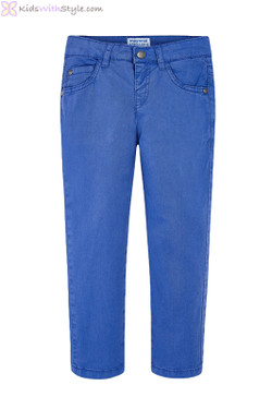 Boys Blue Twill Chino Pants