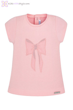 Baby Girl Bow T-Shirt in Pink