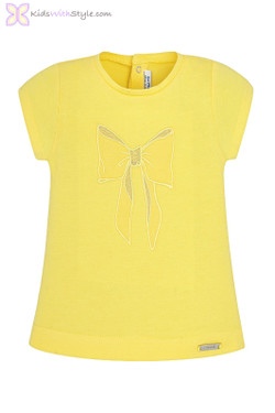 Baby Girl Bow T-Shirt in Yellow