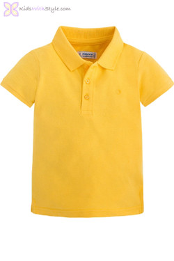 Classic Yellow Short Sleeve Polo Shirt