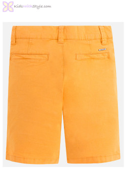 Young Boy Chino Shorts in Deep Yellow
