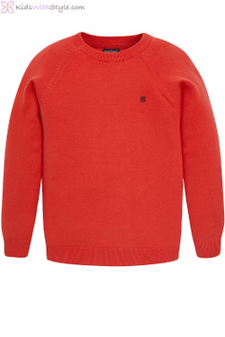 Boys Cotton Jumper in Red