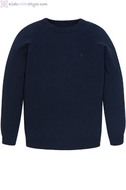 Boys Cotton Jumper in Navy
