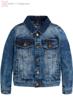 "Boys Denim Jacket with ""Stone Wash"" Effect"