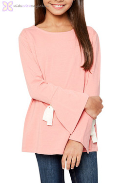 Coral Bell Sleeved Tie Top