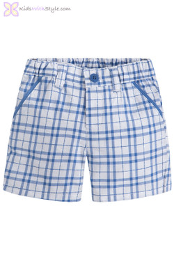 Baby Boy Plaid Shorts in Blue