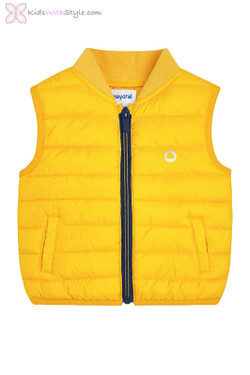 Baby Boys Padded Vest in Yellow