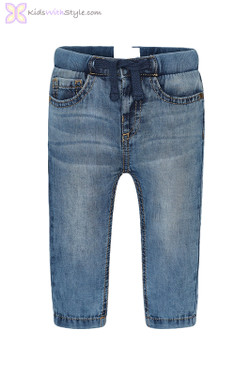 Baby Boy Jeans with Soft Elastic Cuffs