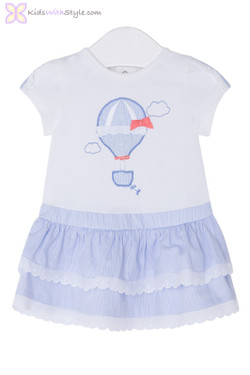 Baby Girl Hot Air Balloon Dress in Sky Blue