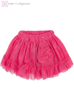 Baby Girls Fancy Tulle Skirt in Pink