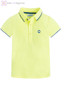 Boys Classic Short Sleeve Polo in Yellow