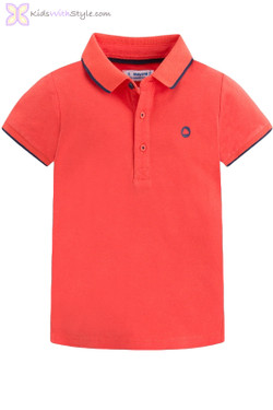 Boys Classic Short Sleeve Polo in Red