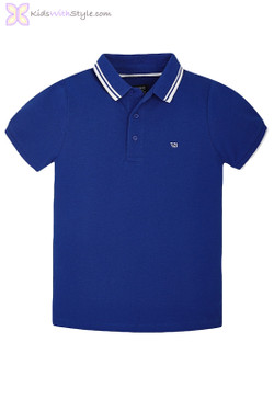 Boys Graphic Global Master Polo in Dark Blue