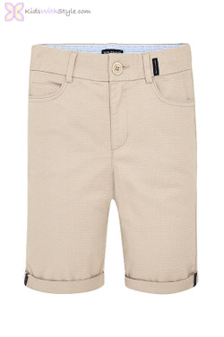 Boys Formal Chino Shorts in Beige