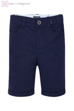Boys Formal Chino Shorts in Navy