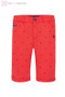 Boys Long Red Shorts with Print Design