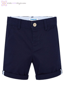 Boys Chino Shorts in Navy