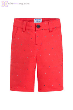 Boys Lightweight Patterned Shorts in Red