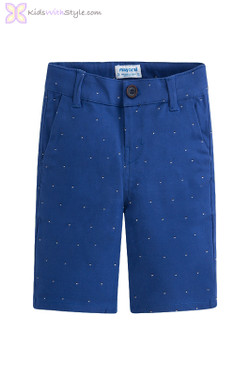 Boys Lightweight Patterned Shorts in Blue