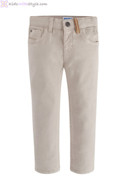 Boys Beige Pants