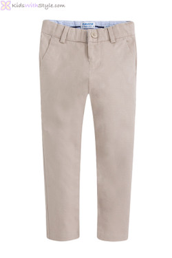 Boys Chino Pants in Beige