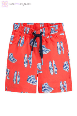 Boys Graphic Sneakers Swimwear in Red