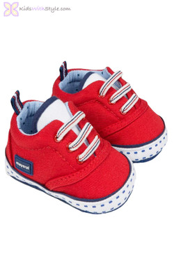 Baby Boy Canvas Shoes in Red