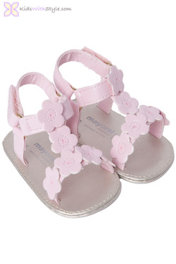 Baby Girl Floral Pink Sandals