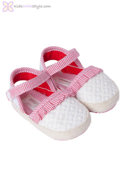 Baby Girl Espadrille in Red
