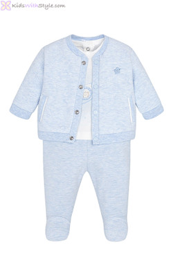 Baby Boy 3-Piece Tracksuit Set in Sky Blue