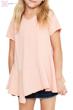 Dusty Pink V-Neck Tunic