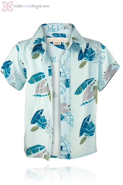Powder Blue Palm Shirt