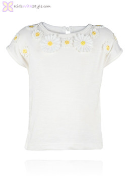 Embroidered Daisy Tee Shirt