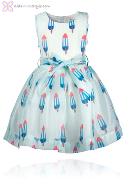 Blue Popsicle Dress