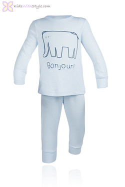 Light Blue Elephant PJ Set