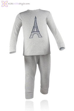 Grey Paris Pajama Set