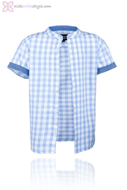 Blue Mao Short Sleeve Shirt