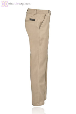 Beige Straight Leg Pants