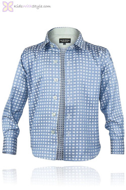 Blue Box Weave Shirt