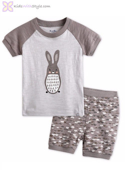 Rabbit Short Sleeve Pajama Set