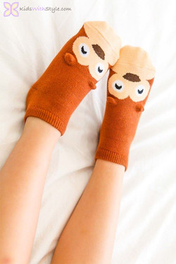 Brown Bear Children's Socks