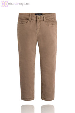 Beige Lined & Structured Pants