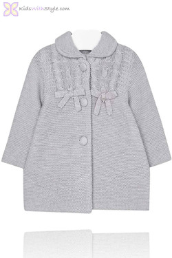 Baby Girl Gray Knitted Jacket