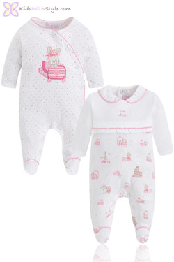Pink Blush Baby Girl 2 Piece Onsie Set