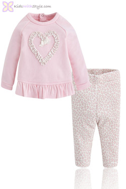 Baby Girl Pink Pullover and Leggings Gift Set