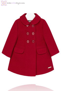 Baby Girl Chic Red Coat