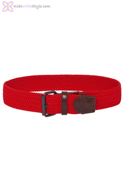 Red Braided Elastic Belt
